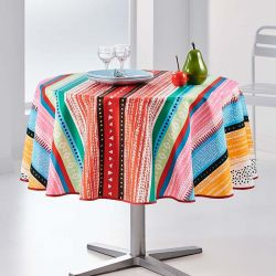 Tablecloth multicolored lines around 160 French Tablecloths
