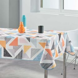 Rectangular tablecloth 240x148 cm multicolored triangles French Tablecloths