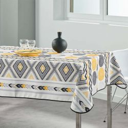 Tablecloth yellow diamond 200 X 148 French tablecloths