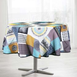 Nappe 300x148 cm Rectangle carrés multicolores