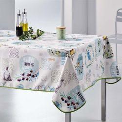 Nappe rectangulaire 240x148 cm écrue avec des olives, provence français Nappes