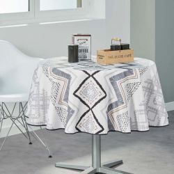 Beige tablecloth 160 cm French Tablecloths