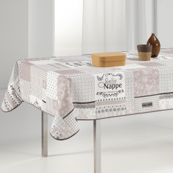 Tablecloth beige Jolie nappe 240 X 148 French tablecloths