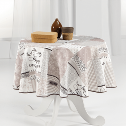 Tablecloth beige Jolie nappe 160cm round French tablecloths