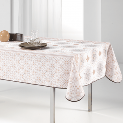 Tablecloth beige Elegant round 160cm French Tablecoverings