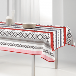 Tablecloth red modern and bright rectangle 240 French Tablecoverings