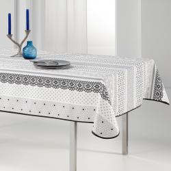 Tischdecke taupe Nüchtern und zart 240 x 148 Fransen Tischdecken