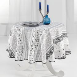 Tischdecke taupe Sober en delicaat 160 cm Fringe Tischdecken