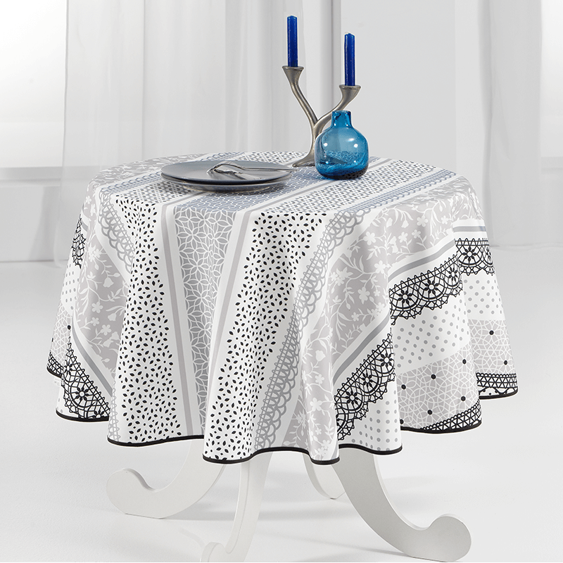 Tablecloth sober and delicate 160cm French tablecloths