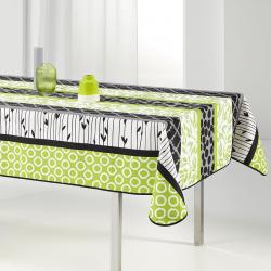 Tischdecke 240x148 cm Rechteckweiss grün und modern Französisch Tischdecken