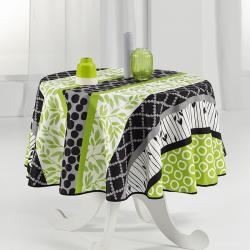 Tischdecke 160 cm Rund grün und modern Französisch Tischdecken