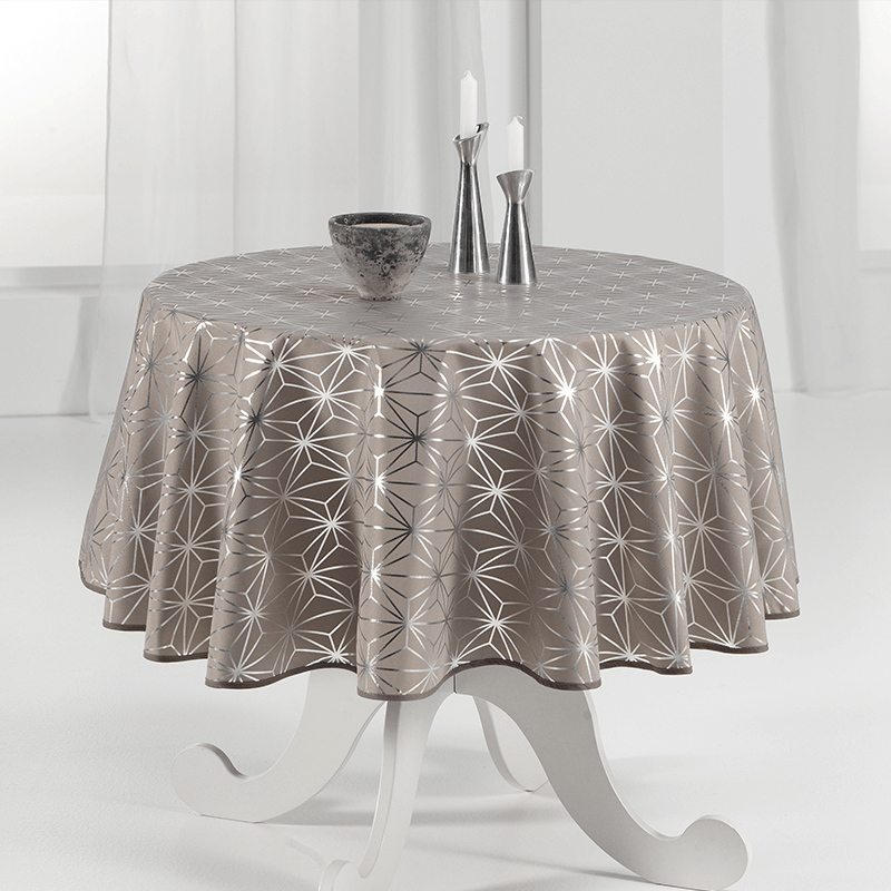 Round tablecloth 160 cm silver stars French Tablecloths