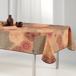 Tablecloth warm and intense ocher 240 X 148 French tablecloths