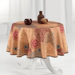 Tischdecke warmer und intensiver Ocker 160cm französische tischdecken