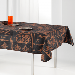 Tablecloth black, chic with bow 240 X 148 French tablecloths