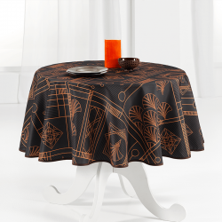 Tablecloth black, chic with bow 160 round French tablecloths