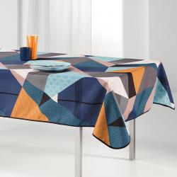 Tischdecke mehrfarbiges Dreieck 240 x 148 französische Tischdecken