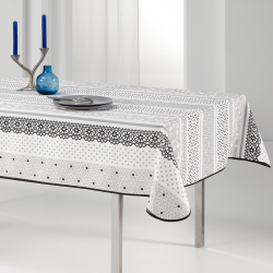 Tablecloth sober and delicate 240 X 148 French tablecloths