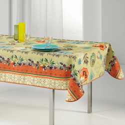 Tablecloth with Provencal olives rectangle 240 French Tablecoverings