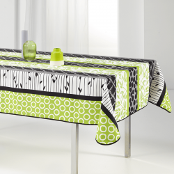Rectangular tablecloth 240x148 cm green and modern French Tablecloths