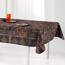 Tischdecke schwarz, schick mit Schleife 240 x 148 französische Tischdecken