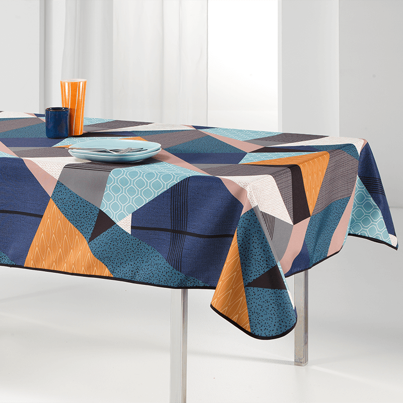 Tablecloth multicolored triangle 240 X 148 French tablecloths