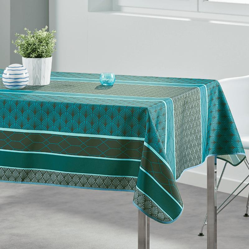 Tablecloth modern grun 200 X 148 French Tablecloths