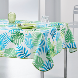 Tablecloth Monstera modern grun 350 X 148 French Tablecloths