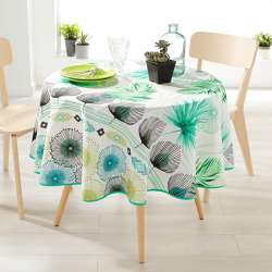 Round 160 tablecloth 100% polyester, moisture repellent