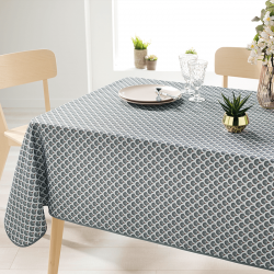 Rectangle 240 tablecloth 100% polyester, moisture repellent. Gray with arches