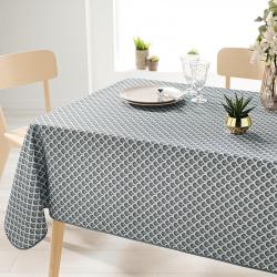 Rechthoek 240 tafelkleed 100% polyester, vochtafstotend. Grijs met bogen