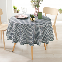 Around 160 tablecloth 100% polyester, moisture repellent. Gray with arches