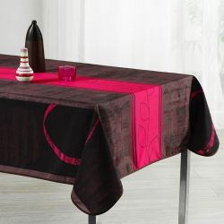 Tablecloth rouge stripe sheets 240 oval French tablecloths