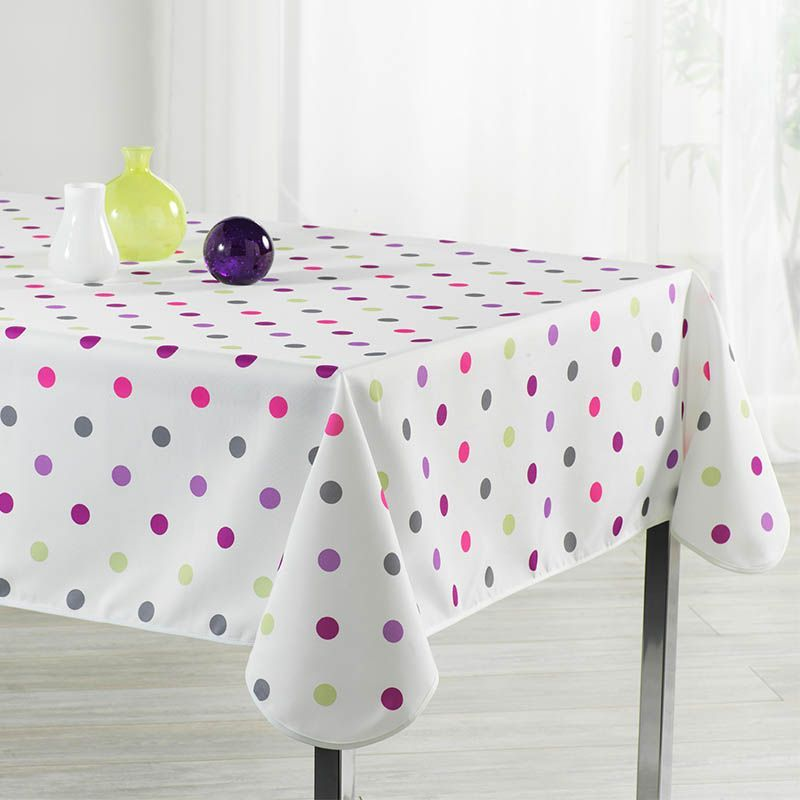 Tablecloth white birthday 300 X 148 French tablecloths