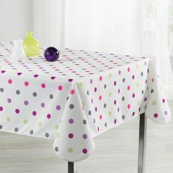 Tablecloth white birthday 240 X 148 French tablecloths