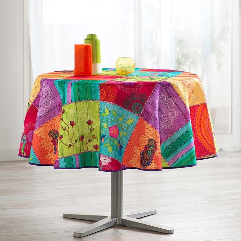 Tablecloth colorful with buddhism 160 round French tablecloths