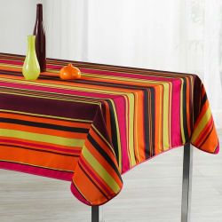 Tablecloth 240 oval stripes French tablecloths