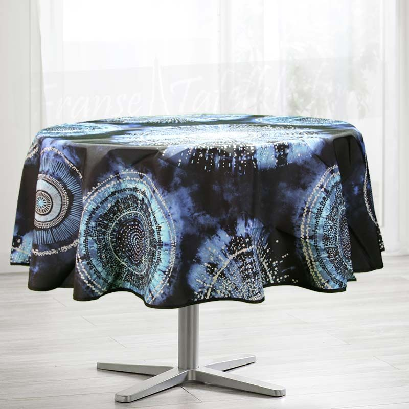 Tablecloth 160 round tie dye French tablecloth