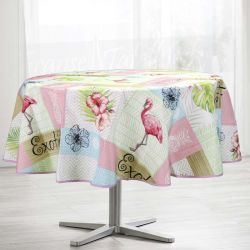 Tablecloth exotic pelican 160 round French tablecloths