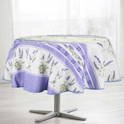 Tablecloth purple lavender fur 160 round French tablecloths