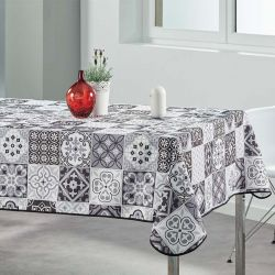 Tablecloth gray mosaic 240 X 148 French tablecloths