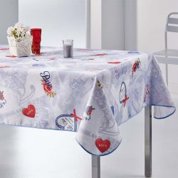 Tablecloth love in paris 350 X 148 French tablecloths
