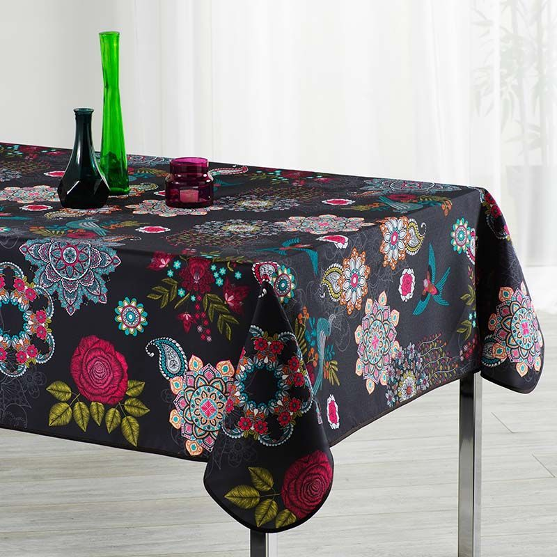 Tablecloth flowers and birds multicolored 240 X 148 desigual