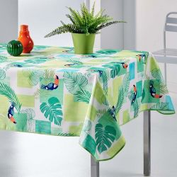 Tischdecke grün tukan 240 X 148 französische tischdecken