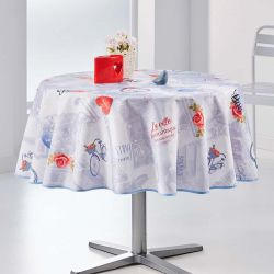 Tablecloth love in paris 160 round French tablecloths