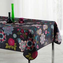 Tablecloth flowers and birds multicolored 160 round desigual
