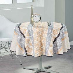 Tischtuch beige, grau abstrakten160 runde Französisch tischdecken