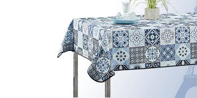 Rechteck 240 x 148 cm Polyester Tischtuch für drinnen und im garten.