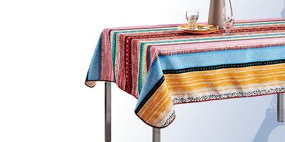 Tischdecke eckig 300 x 148 cm, Polyester für innen und außen.