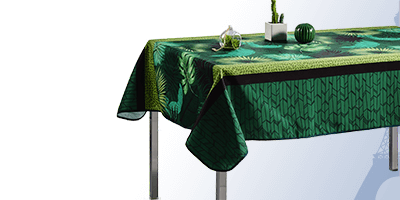 Tablecloth 350 x 148 cm rectangle for interior and exterior.